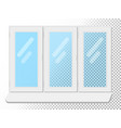 white window isolated on white background clear vector image vector image