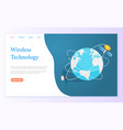 wireless technology internet page global network vector image vector image