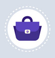 women blue handbag shopping icon fashion vector image