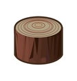 cut tree isolated icon vector image
