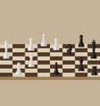 picture of chessboard and chess figures on it vector image