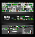 city traffic banner vector image