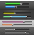 slider bars vector image