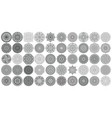 big set of round patterns collection of vector image