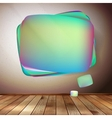 Glass bubble speech on wooden background EPS 10 vector image