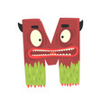 cartoon character monster letter m vector image