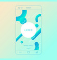 abstract background for mobile applications vector image