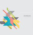 abstract hi-tech digital technology background vector image vector image