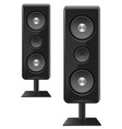 acoustic speakers with three speakers vector image
