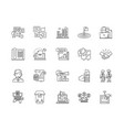 agency line icons signs set outline vector image vector image