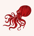 angry octopus graphic vector image vector image