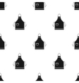 Apron icon in black style isolated on white vector image