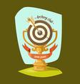Archery Club Golden Cup vector image vector image