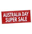 australia day super sale grunge rubber stamp vector image vector image