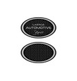 automotive logo design vector image vector image