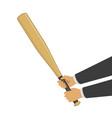 baseball bat in hands vector image vector image