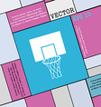 Basketball backboard icon sign Modern flat style vector image