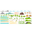 beach landscape constructor sandy beaches vector image