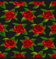 beautiful red rose flowers seamless floral summer vector image vector image