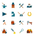 Blacksmith Icon Flat vector image