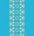 blue pattern with pomegranates vector image