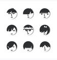 Boys And Girls Head Icons vector image vector image