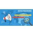 Business background BENCHMARKING vector image vector image