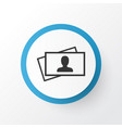 business card icon symbol premium quality vector image