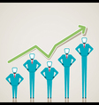 business graph design with businessmen vector image vector image