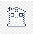 cabin concept linear icon isolated on transparent vector image
