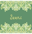 Card template for print design Ethnic paisley vector image vector image