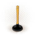 cartoon plunger icon with yellow handle vector image vector image