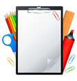 clipboard and tools vector image vector image