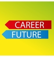 color arrows career future on fresh background vector image vector image