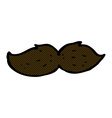 comic cartoon mustache vector image vector image