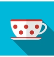 Cup on blue background icon vector image vector image