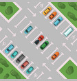 diagonal view parking with places vector image vector image