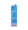downtown skyscraper city business or residential vector image vector image