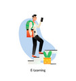 e-learning education internet networking sharing vector image vector image