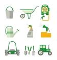 farmer set of gardner equipment vector image