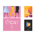fashion week poster banner template placard vector image vector image
