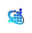 financial coaching logo design template vector image vector image