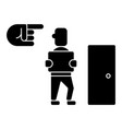 fired - exit - dismissal icon vector image