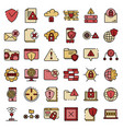 firewall icons flat vector image vector image