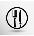 Food service logo design template cafe vector image vector image