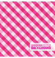 gingham pinky vector image vector image
