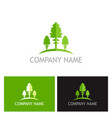 green pine tree logo vector image vector image