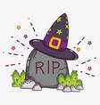 halloween cartoons concept vector image