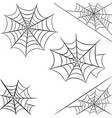 halloween spider web isolated on white background vector image vector image