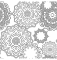 Hand drawn zentangle floral doodles tribal style vector image vector image